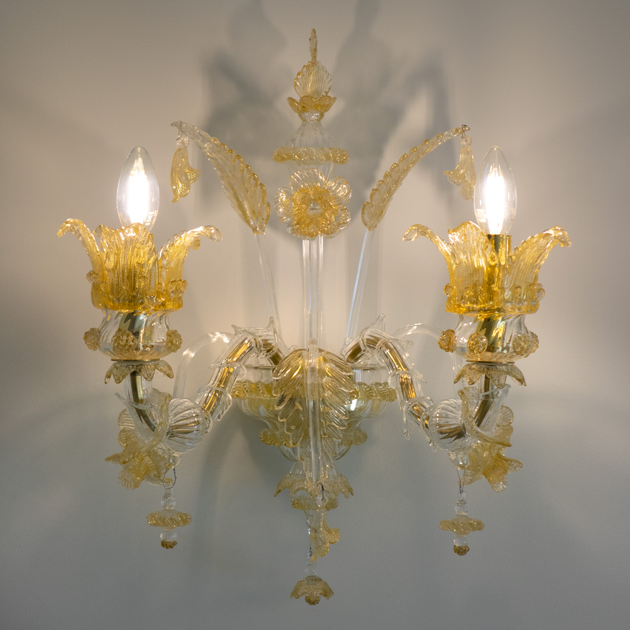 murano glass wall lamp